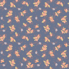 floral seamless textile pattern
