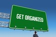 Get organized against blue sky