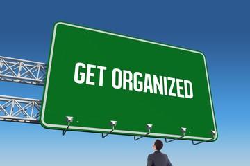 Get organized against blue sky