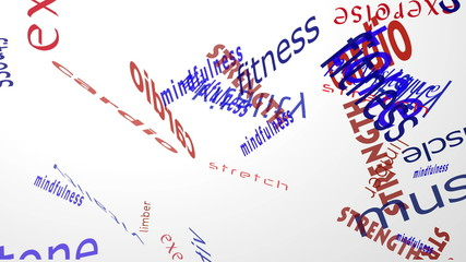 Fitness Falling Words