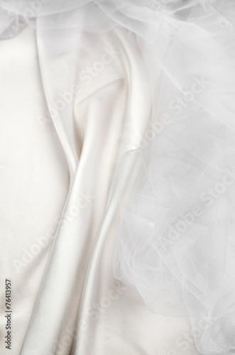 white silk tulle - 76413957