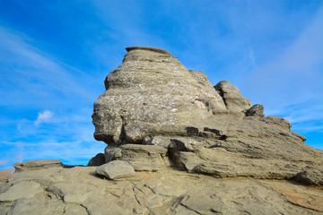 Romanian sphinx in busteni, carpatians mountain