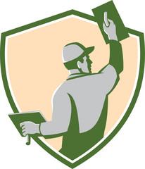 Plasterer Masonry Trowel Shield Retro