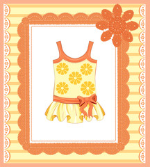background with  dress for baby girl