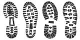 Set: Sandige Schuhabdrücke mit Profil, Vektor, freigestellt