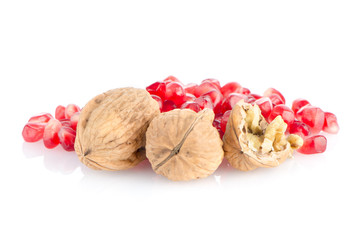 Pomegranate seed pile and nuts