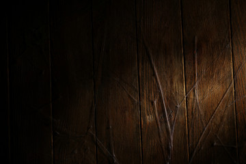 Old wooden wall covered by spiderweb