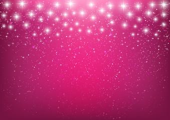 Shiny stars on pink background