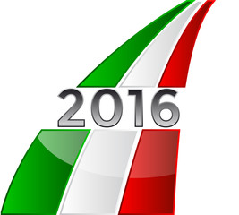 Happy New Year 2016 with the Italian flag