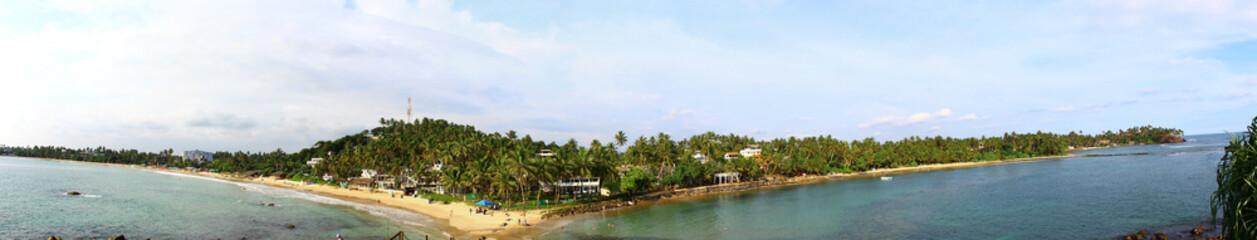 Панорама пляжа Мириса, Шри-Ланка