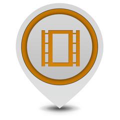film pointer icon on white background