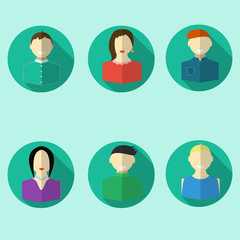 set of people icons flat design