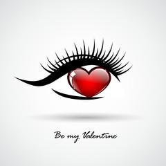 valentine herzauge