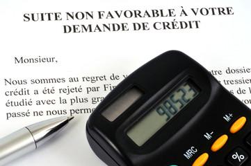 Demande de crédit refusée