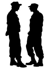 Police men on street