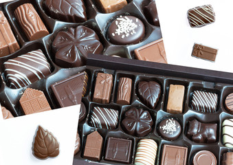 Boites de bonbons en chocolat