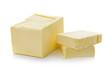Leinwandbild Motiv butter on white background