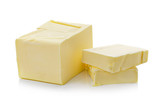 butter on white background - 76417550