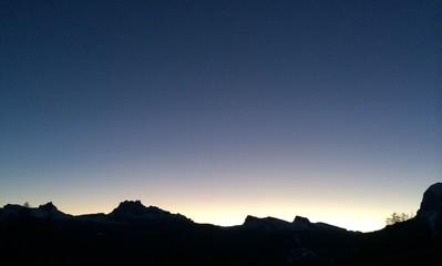 montagna di sera