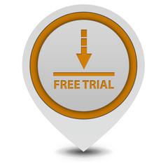 Free trial pointer icon on white background