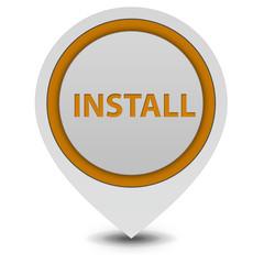 Installation pointer icon on white background