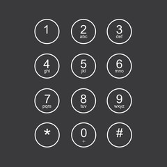 Flat keypad for phone
