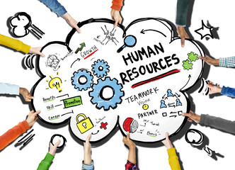 Human Resources Employment Job Teamwork Support Team Concept