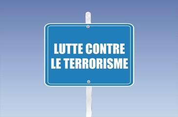 panneau lutte contre le terrorisme