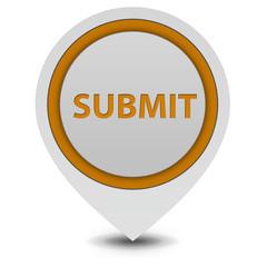 Submit pointer icon on white background