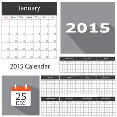 2015 calendar template brochure business design