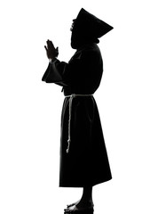 man monk priest silhouette praying