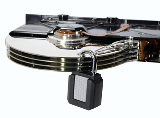 hard disk with a padlock