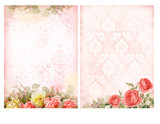 Shabby chic backgrounds with roses.
