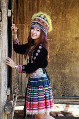 Traditionally dressed Mhong hill tribe woman