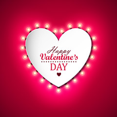 Valentines day background with bright lights