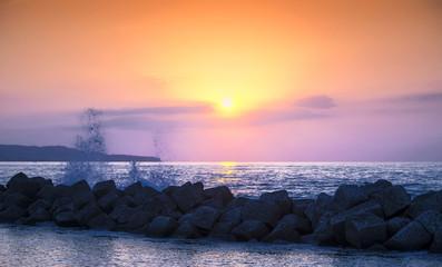 onda tramonto
