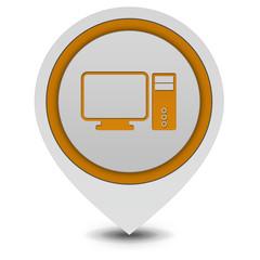 Computer pointer icon on white background