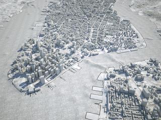 New York mappa cartina vista satellitare disegno