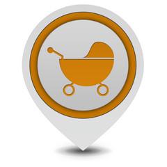 Stroller pointer icon on white background