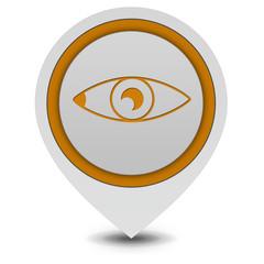 Eye pointer icon on white background
