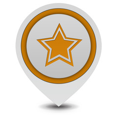 Star  pointer icon on white background
