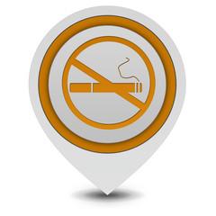Cigarette pointer icon on white background