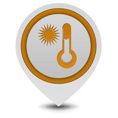 Sun pointer icon on white background