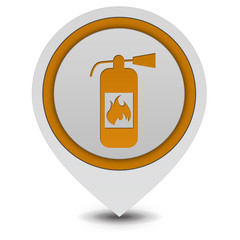 Fire extinguisher pointer icon on white background