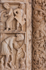 Detail of the Cathedral of St. Lawrence in Trogir, Croatia