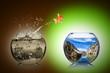 fish rethink concept - 76421757