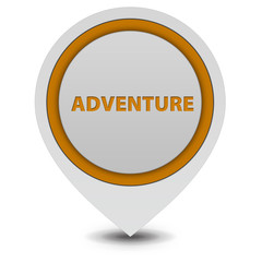 Adventure pointer icon on white background