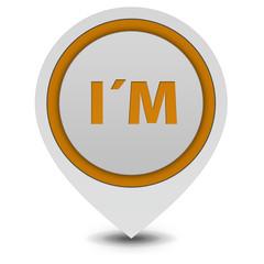 I am pointer icon on white background