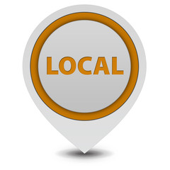Local pointer icon on white background