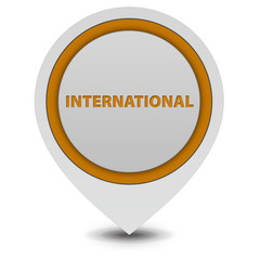 International pointer icon on white background